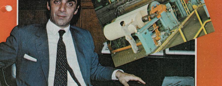 """Revista Mercado, Héctor Massuh """"Empresario del año"""", diciembre de 1985"""