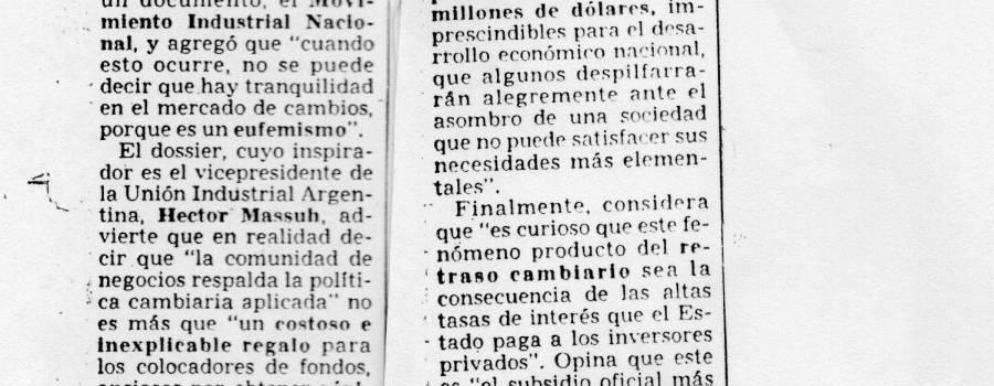 Clarín, diciembre de 1988: Condena al atraso cambiario