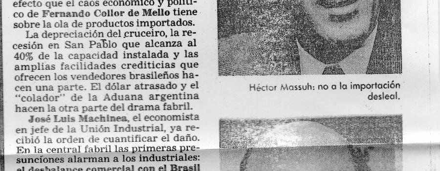 Clarín, Panorama empresario, julio de 1992